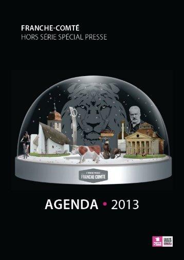 AGENDA 2013 - Comité régional du tourisme de Franche-Comté