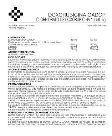 doxorubi prosp 10/05 - Gador SA
