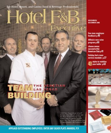 For Hotel, Resort, and Casino Food & Beverage Professionals Hotel ...