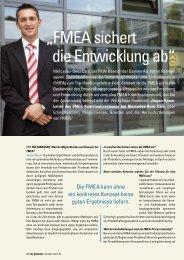 """""""FMEA sichert die Entwicklung ab"""" - der f&e manager"""