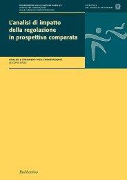 L'analisi di impatto della regolazione in prospettiva comparata