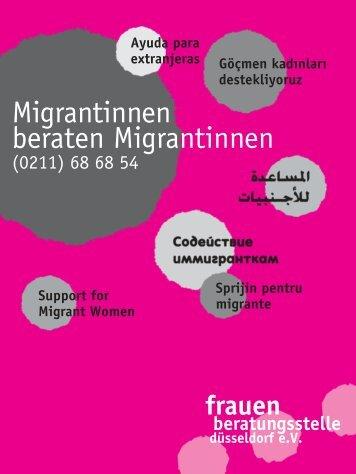 Migrantinnen beraten Migrantinnen - Frauenberatungsstelle ...