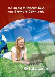 Ihr Zugang zu Product Keys und Software Downloads - FotoWare
