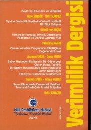 TANIMSAL GİRDİ-ÇIKTI ANALİZİ BULGULARI: Dr. Bekir KAYACAN