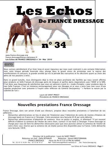 Les Echos N° 34 (pdf) - France Dressage