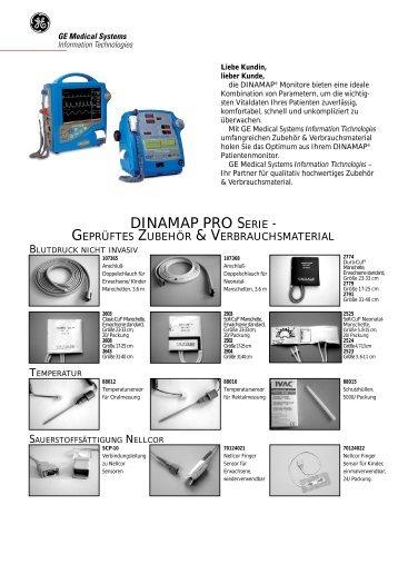 DINAMAP PRO SERIE – geprüftes Zubehör & Verbrauchsmaterial