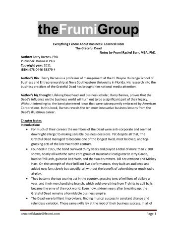 Everything I know About Business I Learned From ... - Frumi Group