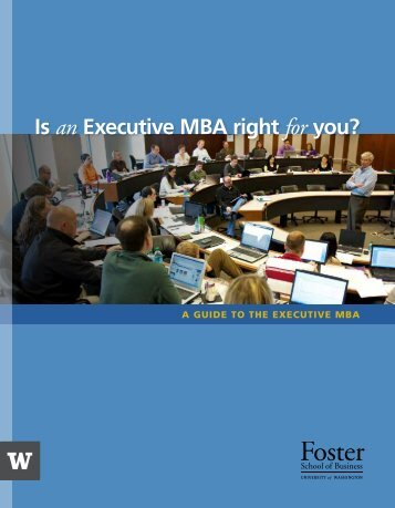 to download the EMBA Guide - University of Washington Foster ...