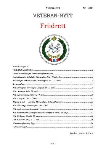 Veteran-Nytt 1/07 - Friidrett.no