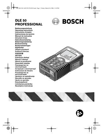 DLE 50 PROFESSIONAL - Bosch