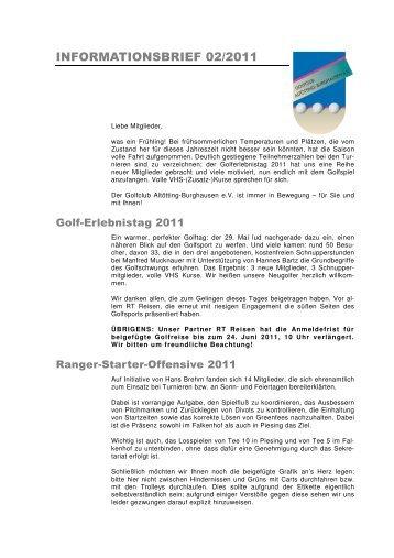 Infobrief 02_11 - Golfclub Altötting-Burghausen