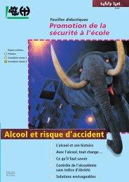 Alcool et risque d'accident, Safety Tool (fichier pdf, 646KB)