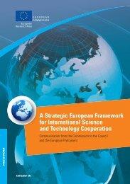 A Strategic European Framework for International Science and ...