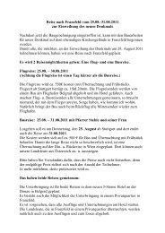 Reise nach Franzfeld vom 25 - Die Franzfelder