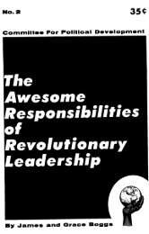 The Awesome Responsibilities of Revolutionary ... - Freedom Archives