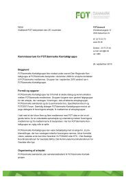 Kommissorium for FOTdanmarks Kontaktgruppe