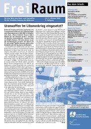 Freiraum 2006 - 3 (PDF) - Gewaltfreie Aktion Atomwaffen Abschaffen