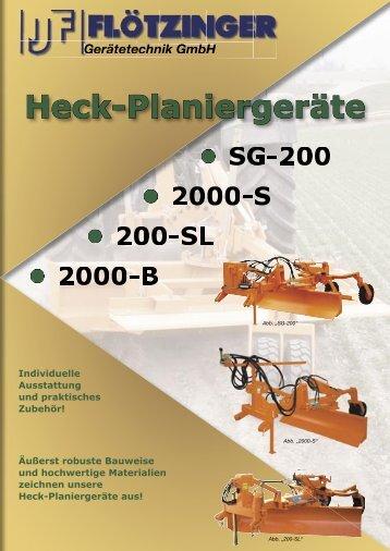 Heck-Planiergeräte