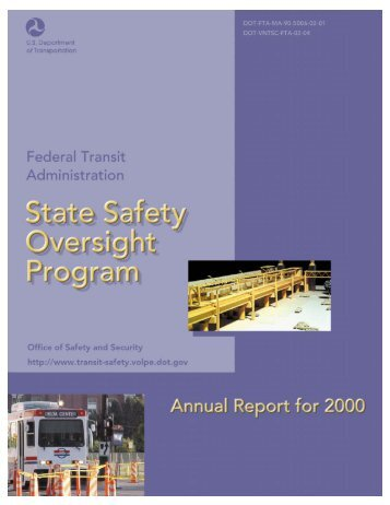 State Safety Oversight Program Annual Report for 2000 (PDF Format)