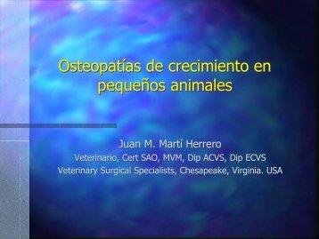 Osteopatías de crecimiento en pequeños animales