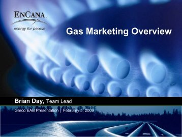 Gas Marketing Overview - Garfield County, Colorado