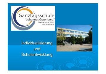 Präsentation: Schule Johannes Gutenberg