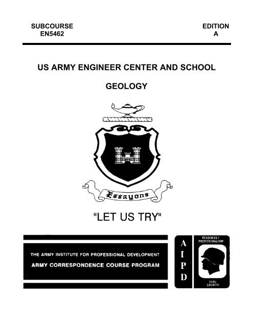 Us Army Engineer Center And School Geology