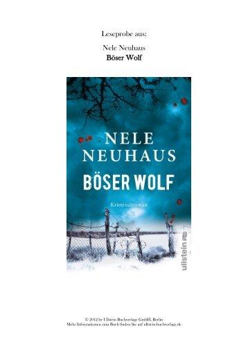 Leseprobe aus: Nele Neuhaus Böser Wolf - Vorablesen