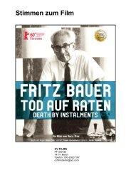 Stimmen zum Film - Fritz Bauer Film