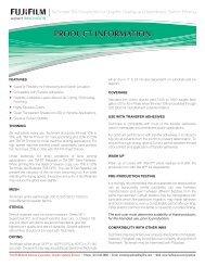 Techmark TM - Solvent Product Information - Fujifilm USA
