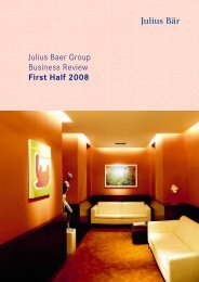 Julius Baer Group Business Review First Half 2008 - GAM Holding AG