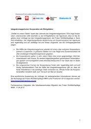 Umfrage zur Kooperation von Integrationsagenturen - Freie ...