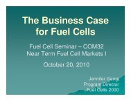The Business Case for Fuel Cells - Fuel Cells 2000