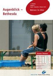 Augenblick – Bethesda - Theodor Fliedner Stiftung
