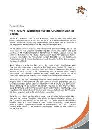 fit-4-future-Workshop für die Grundschulen in Berlin - Fit for Future