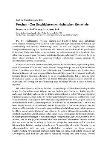 Frechen – Zur Geschichte einer rheinischen Gemeinde - Frechener ...