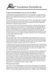 Pressemitteilung Vortrag Presssäfte - Freundeskreis Naturheilkunde ...