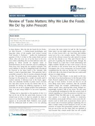 Review of 'Taste Matters: Why We Like the Foods We Do ... - Flavour