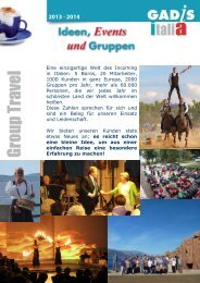 2013 - 2014 - Gadis Tourist Service Italia