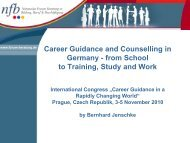 Career Guidance and Counselling in Germany - from School to ...