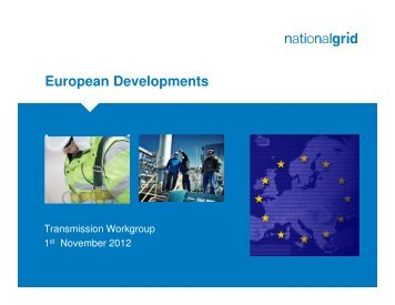 European Developments - Joint Office of Gas Transporters