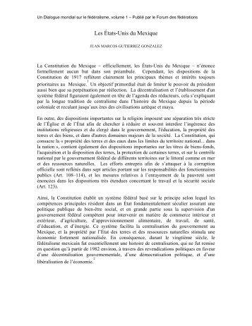 Les états-Unis du Mexique - Juan Marcos Gutiérrez González - Forum ...