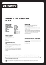MARINE ACTIVE SUBWOOFER - Rock The Boat Audio