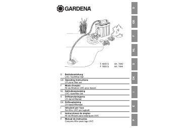 OM, Gardena, Kit de filtrado para estanques UVC, Art 07842-20, Art ...