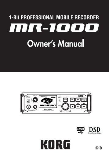 Korg MR-1000