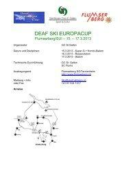 Programm Deaf Ski Europacup 15.-17.3.13 (PDF) - Flumserberg