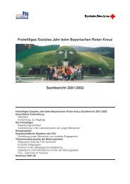 Sachbericht 2001-02 - Freiwilliges Soziales Jahr beim Bayerischen ...