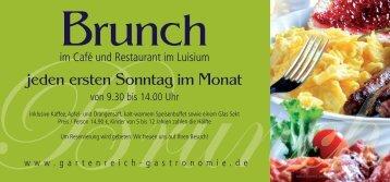 Brunch - Gartenreich Gastronomie