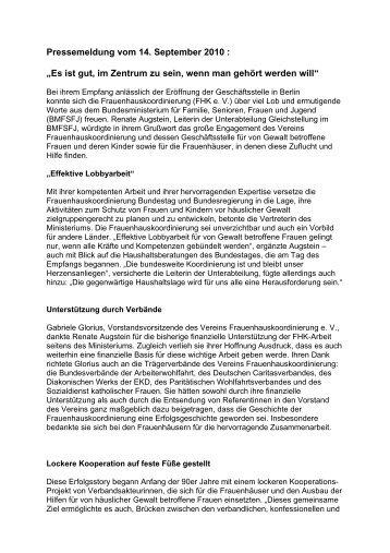 Renate Augstein, Leiterin der Leiterin der Unterabteilung ...