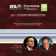 2011 EVENT PROSPECTUS - International Franchise Association
